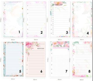 [Preorder] A6 floral inserts/journals refill