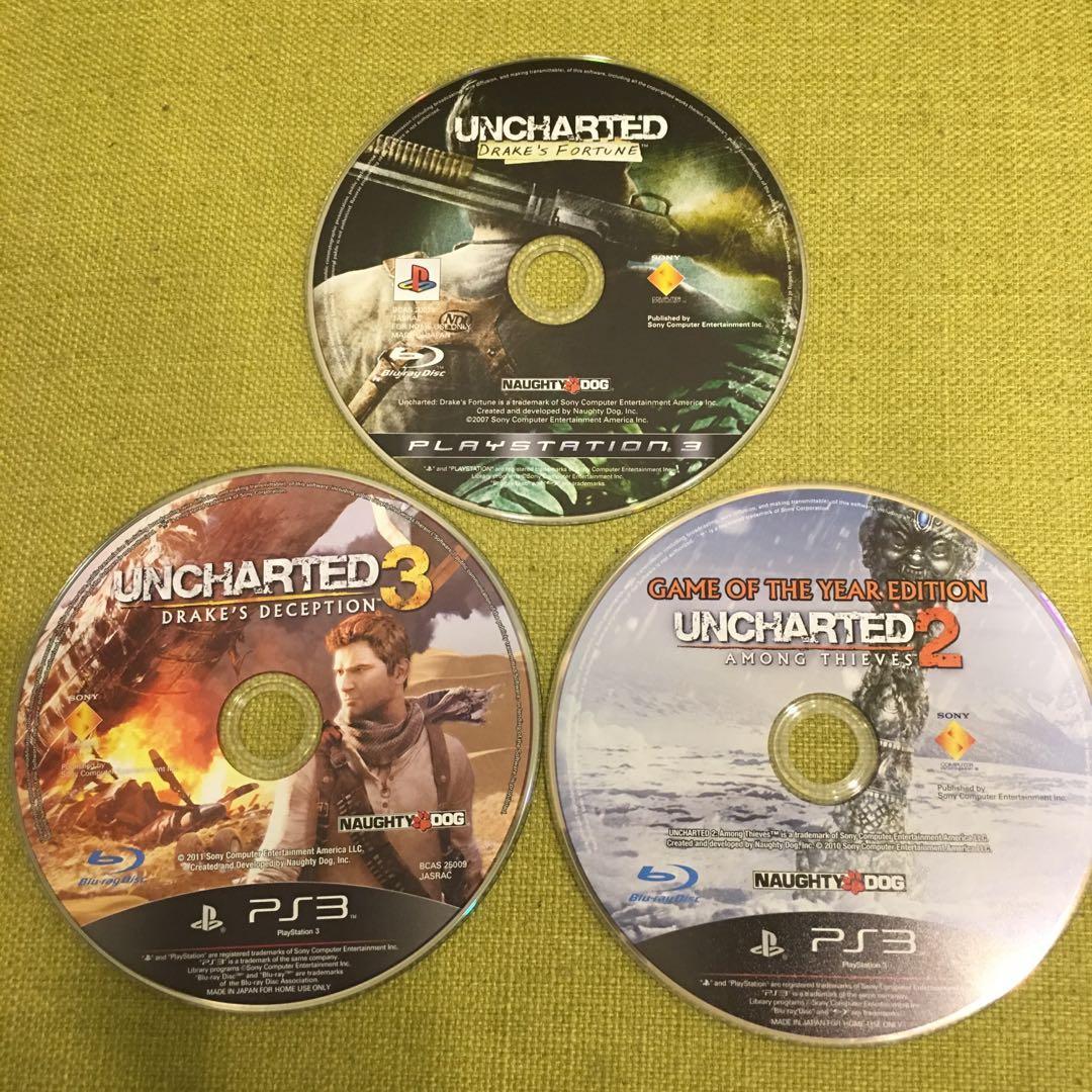 二手PS3袐境探險1黃金城祕寶2盗亦有道3德瑞克的騙局