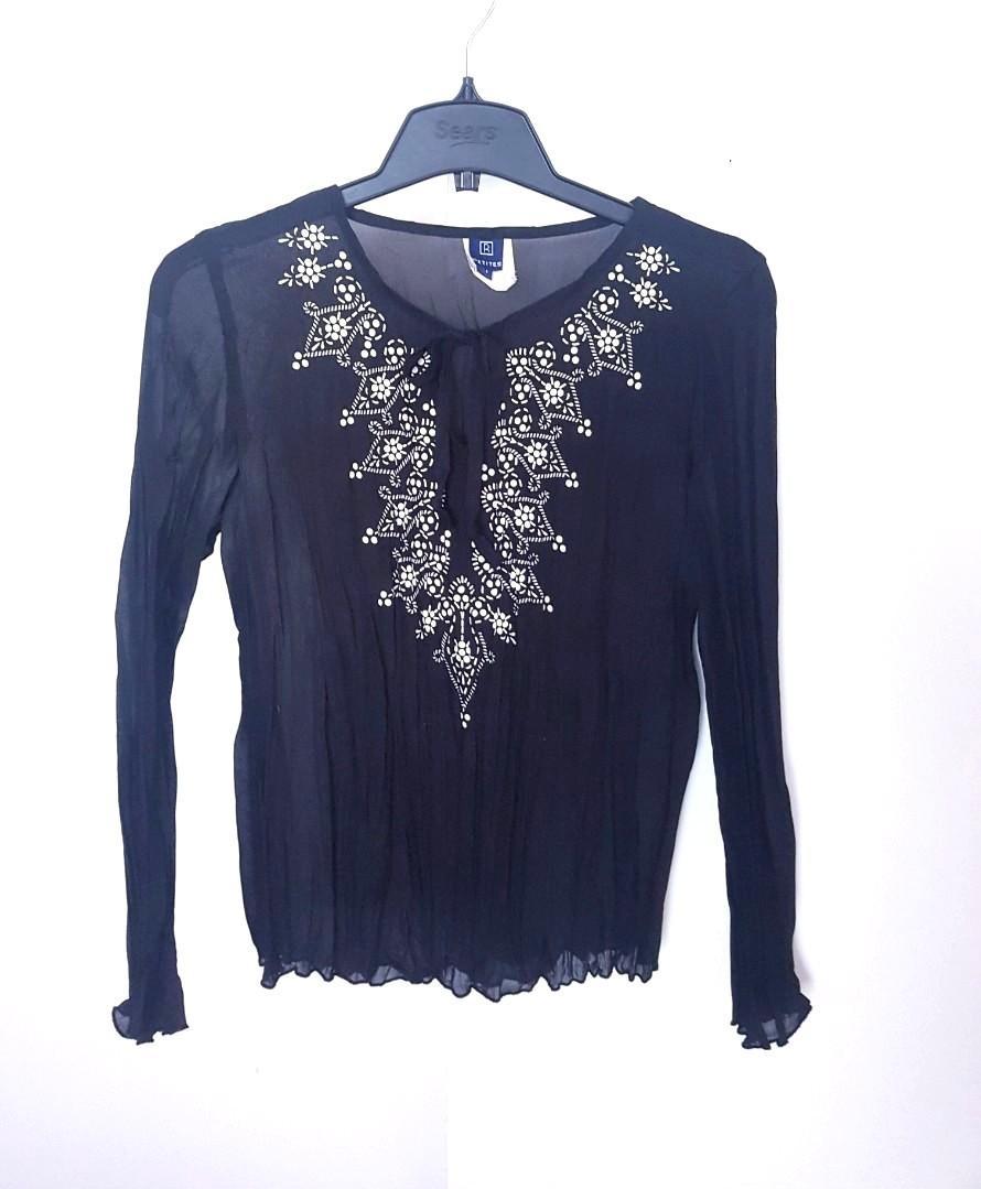 Reitmans sheer black tunic top