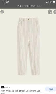 Rw & co linen pants