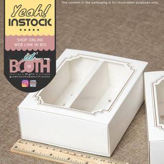 (🌼SALE) A Box fit 10 Macaroon with Clear Window