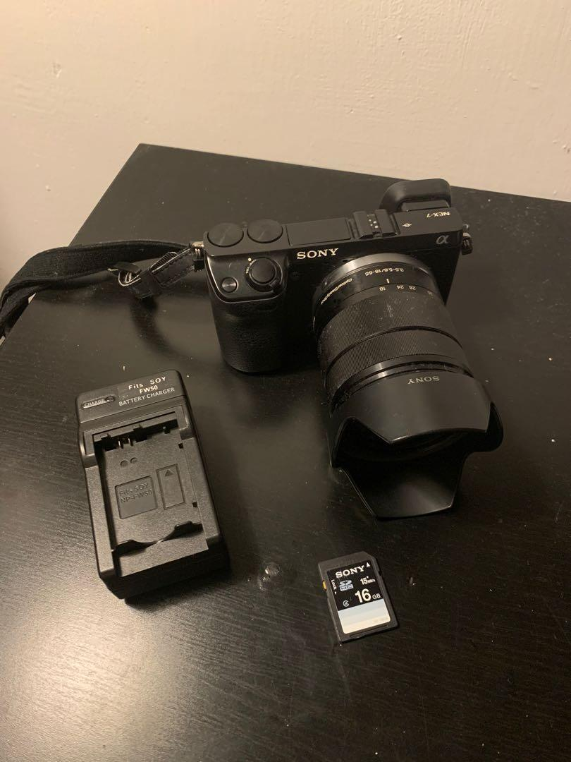 SONY NEX-7 數位單眼相機+18-55mm 變焦鏡