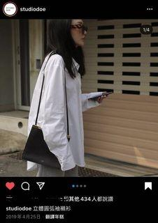 StudioDoe 立體圓弧袖襯衫 小美 小安