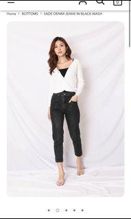 Topazette Sade black denim jeans