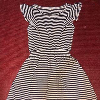 Uniqlo navy blue stripes dress