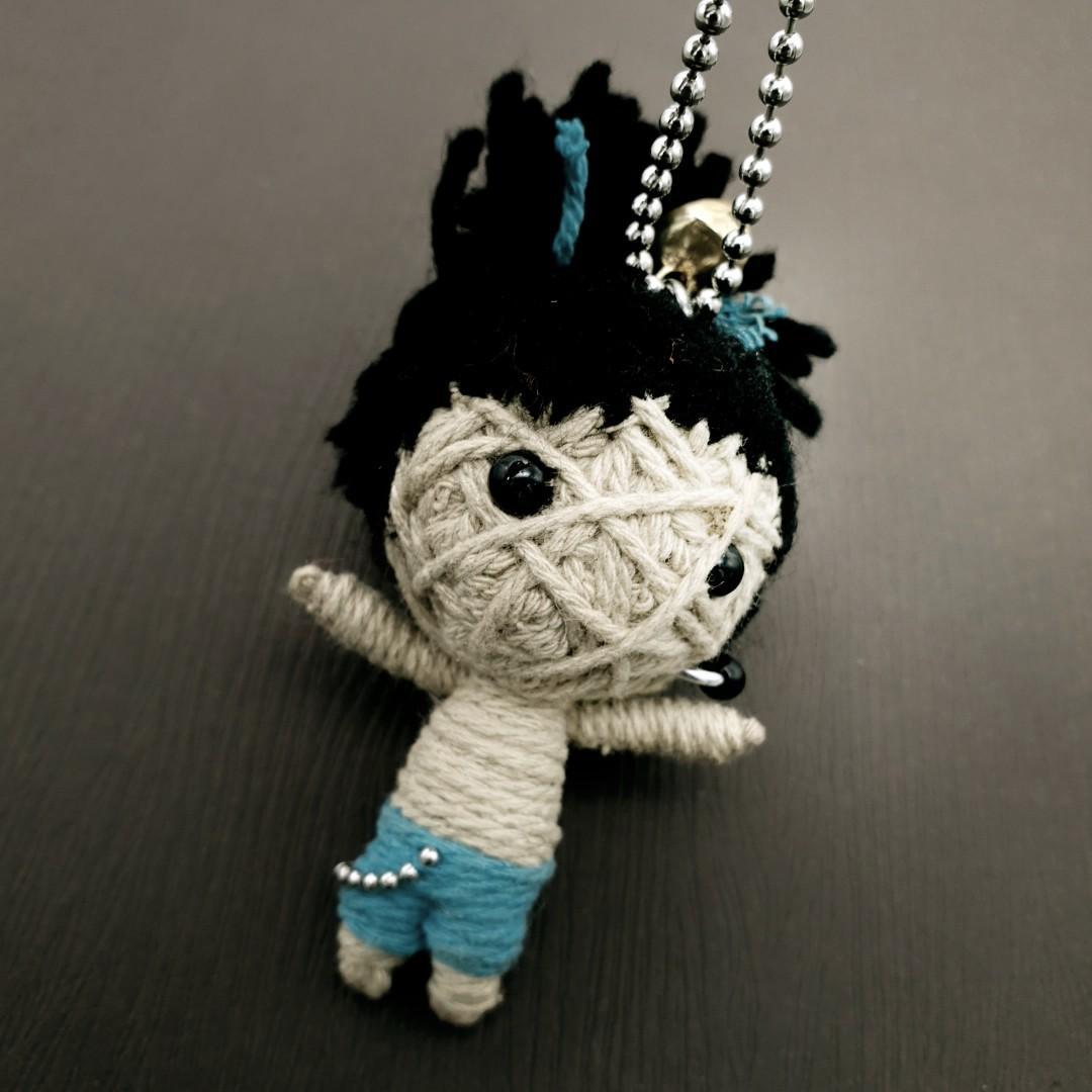 Voodoo 戴耳環的娃 繩編 吊飾 鑰匙圈 掛飾 p05