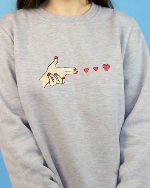Y2K Sweatshirt oversized sweatshirt sweater kpop exo