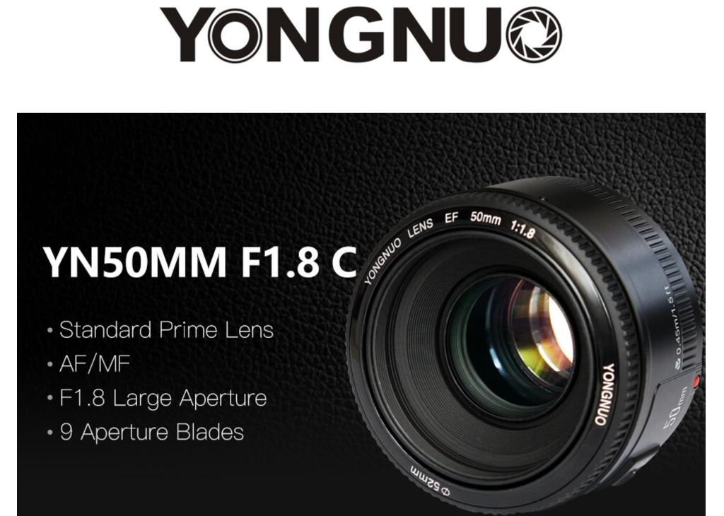 Yongnuo YN50mm F1.8 Lens Compatible with Canon