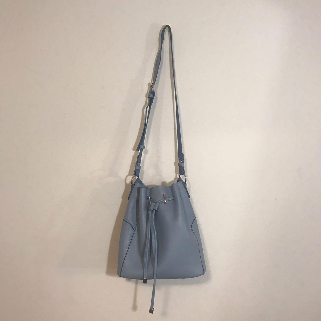 Zara Blue leather bag