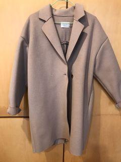 正韓羊毛10%燕麥色大衣