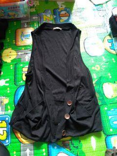 黑色百搭 罩衫 背心 換物