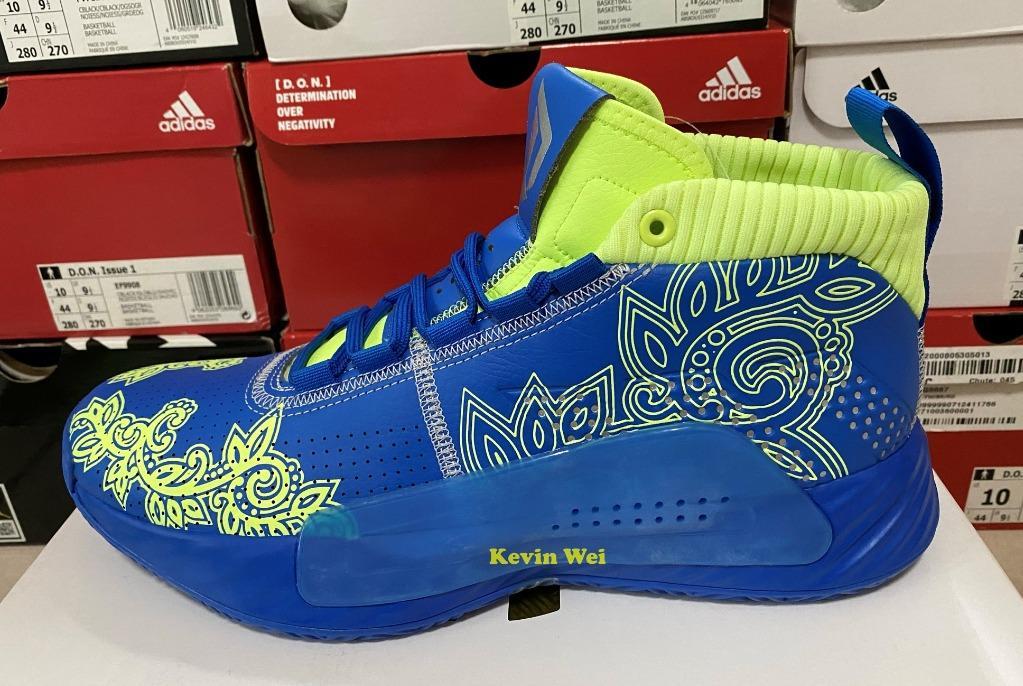 adidas Dame 5 GCA Sample 藍黃 EF8662 籃球鞋 US9