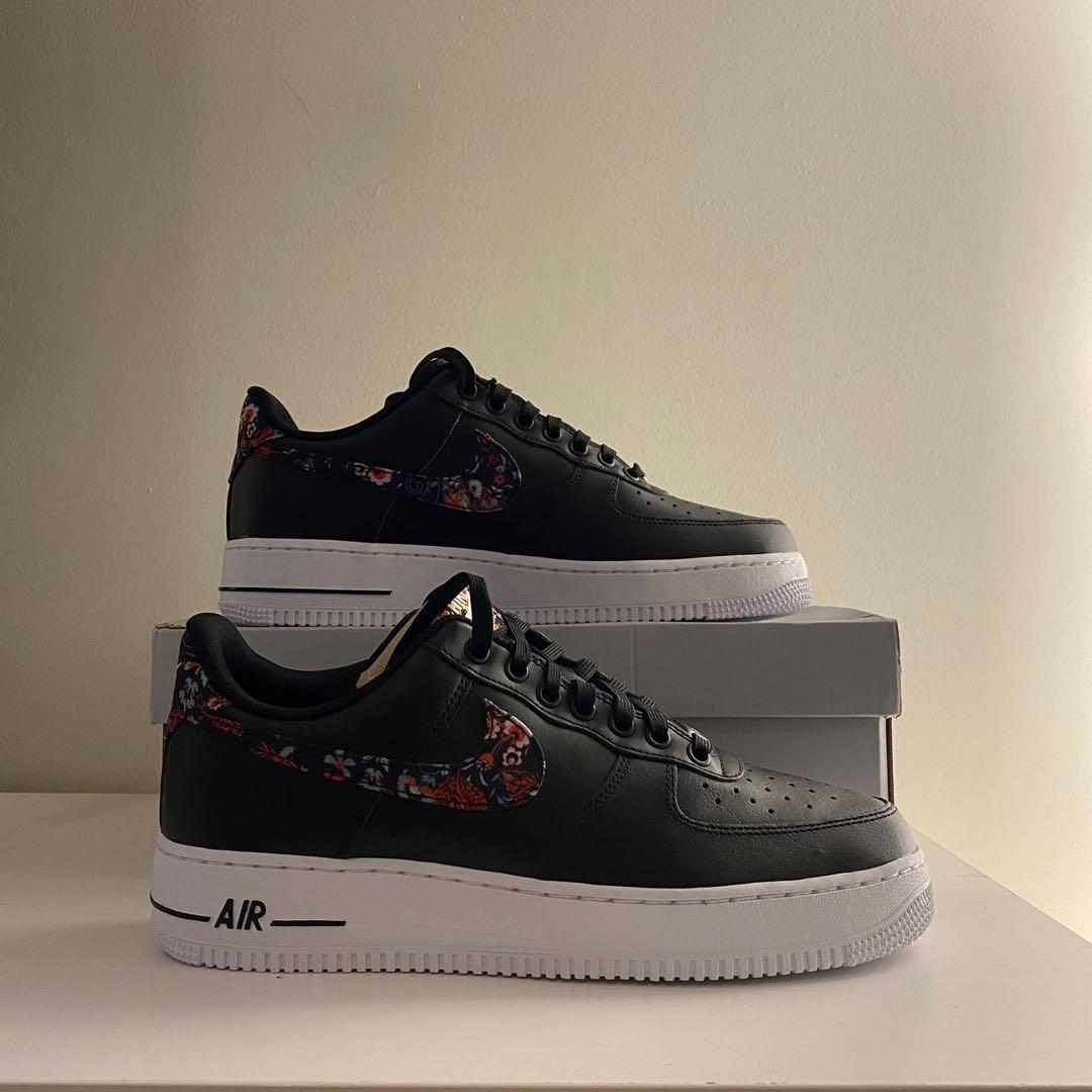 Air force 1 , 07  Low black floral