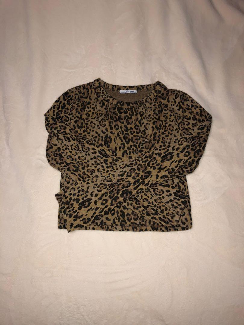 Animal print long sleeve shirt