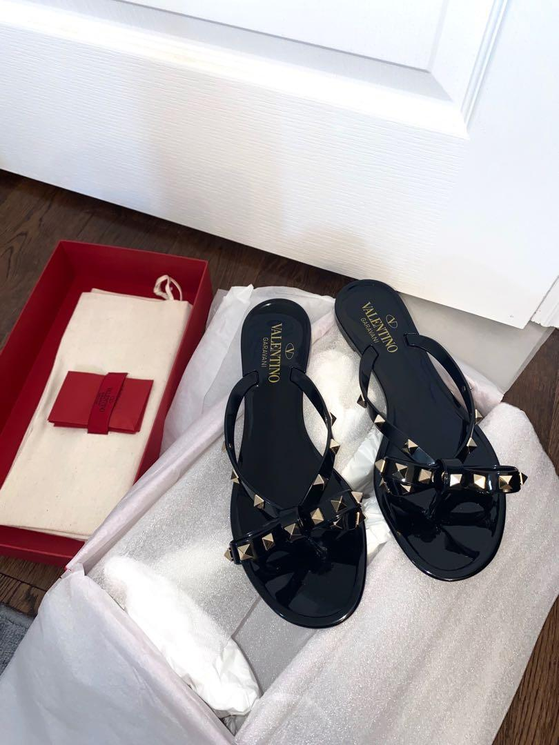 Authentic Valentino Jelly Thong Slides
