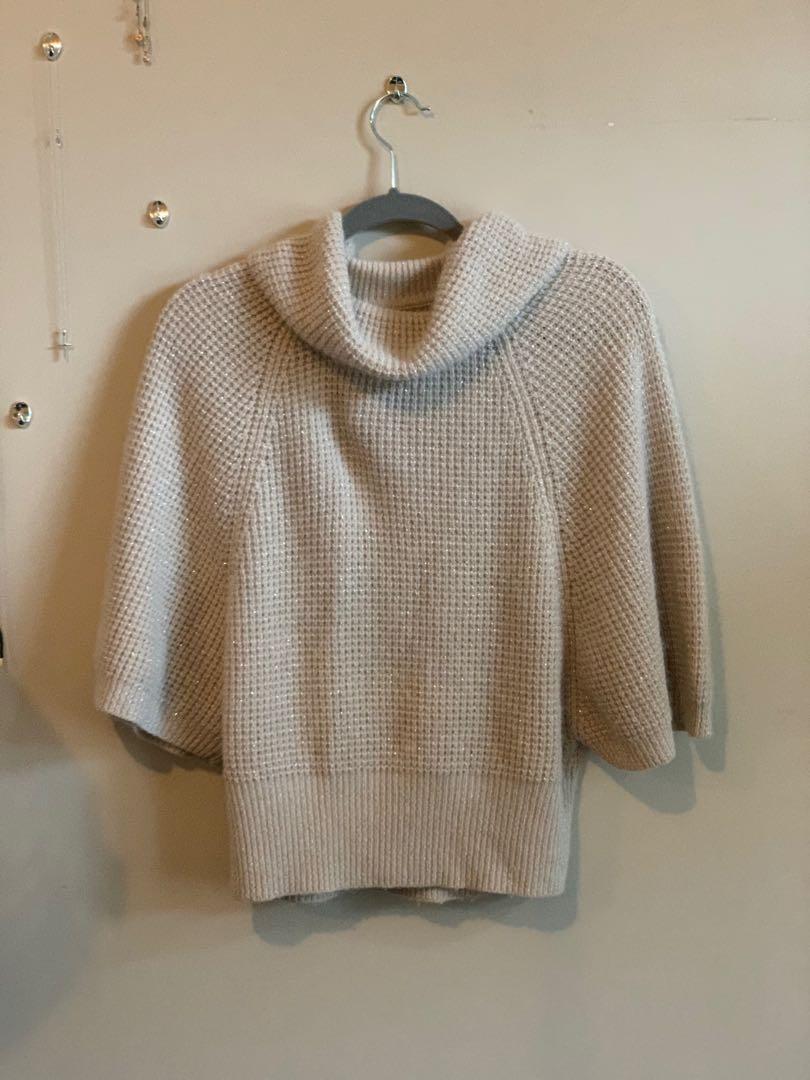 Beige Knit Sweater Size S/M