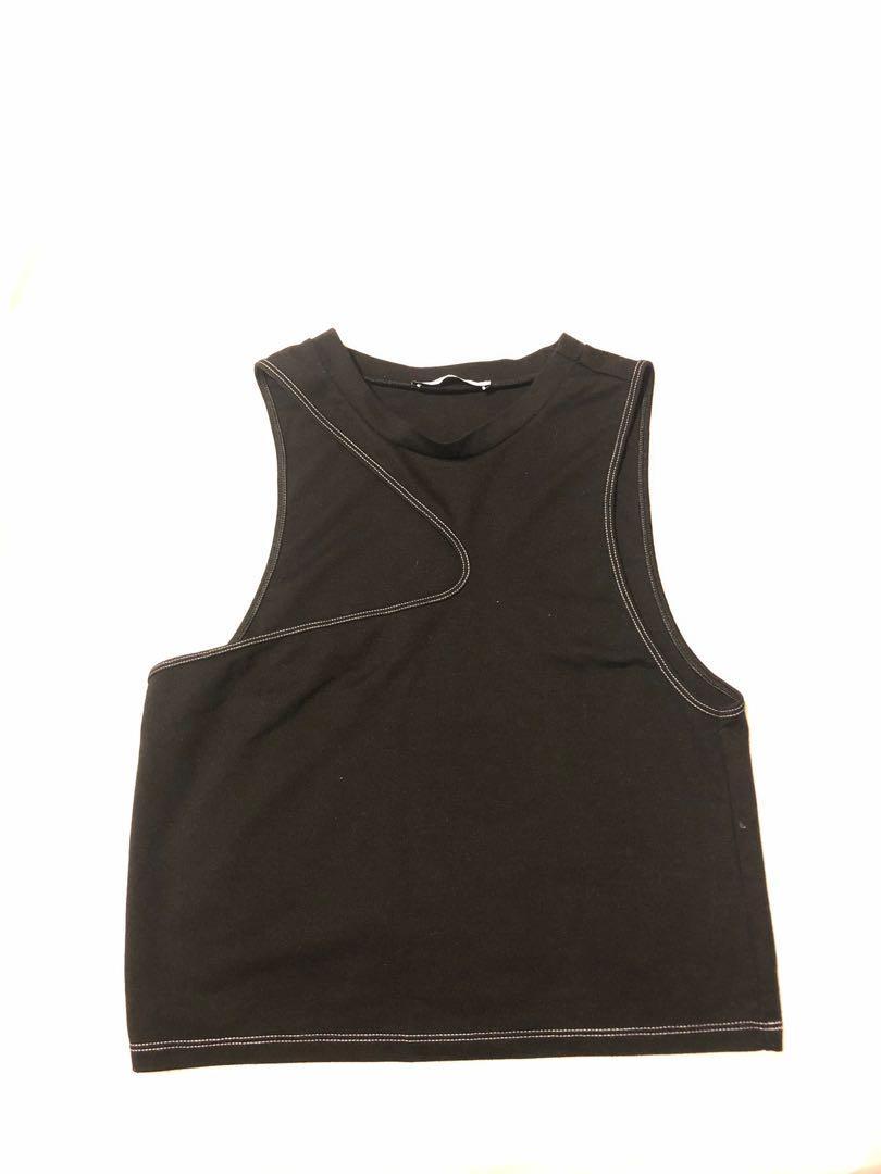 Zara black slit tank top