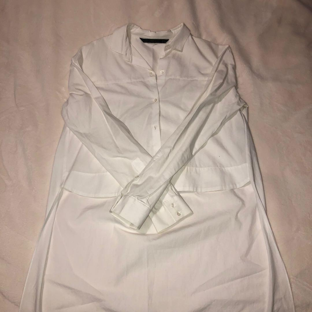 Zara cropped front button up