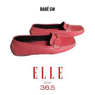 ELLE Flat Shoes, Pink Salmon, Mulus