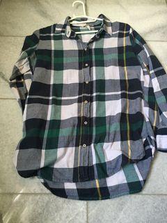 Green flannel h&m