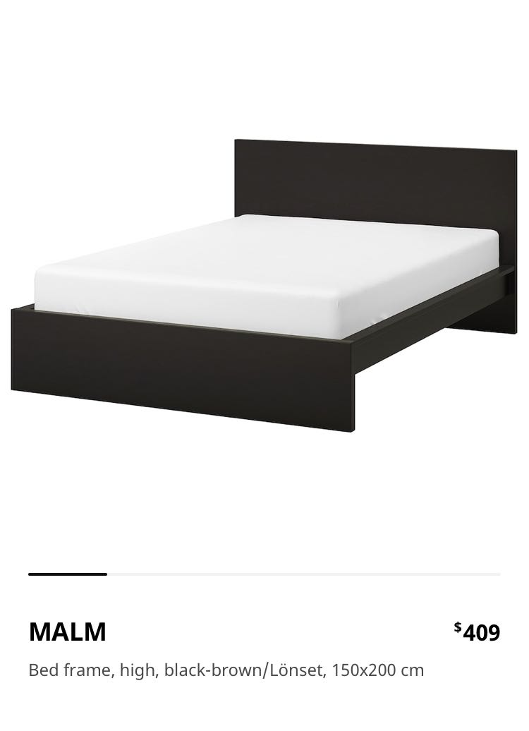 Ikea Malm Queen Bed Frame Free, Queen Bed With Trundle Ikea