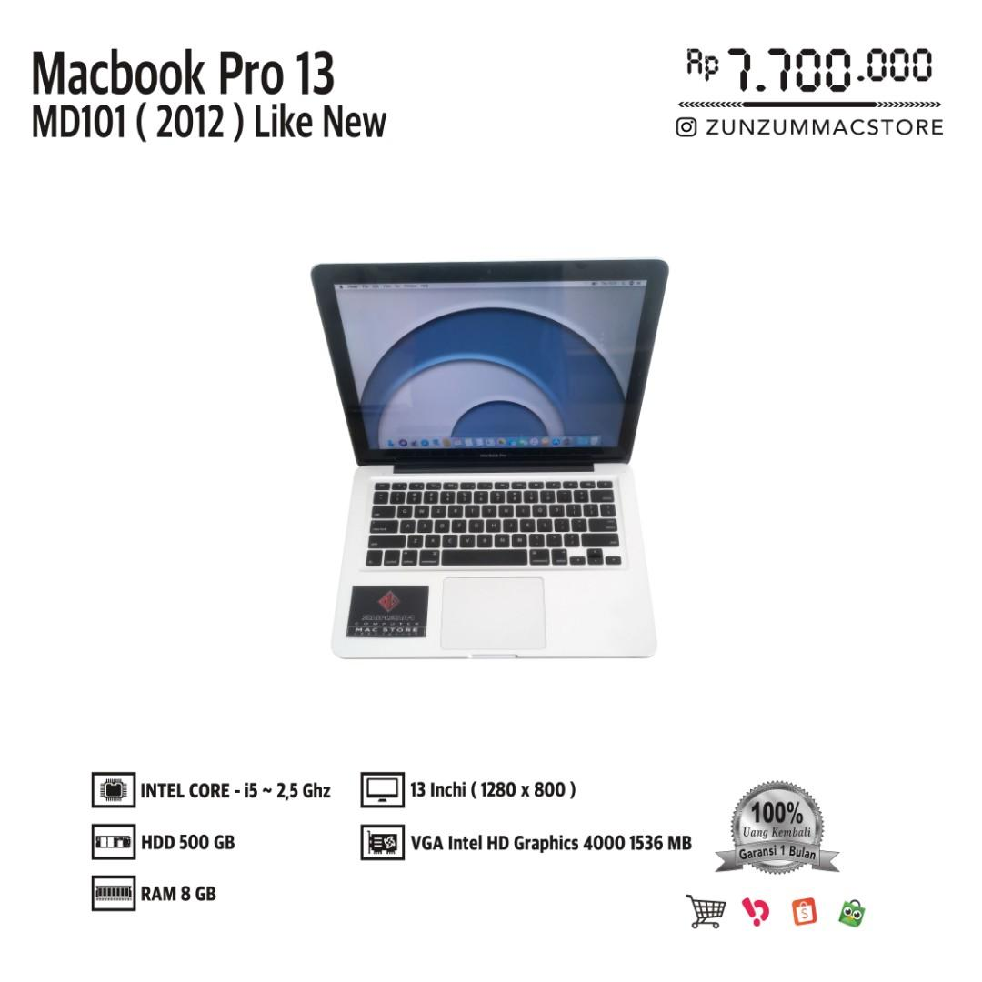Macbook Pro 13 MD101 MID 2012 Core i5 Ram 8 GB HDD 500 GB Like New