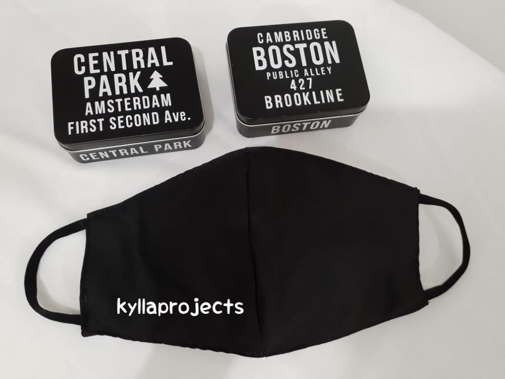 Mask 3ply Plain Black
