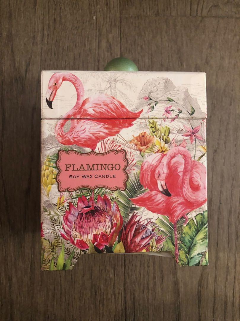 New Flamingo Soy Wax Scented Candle for sale!
