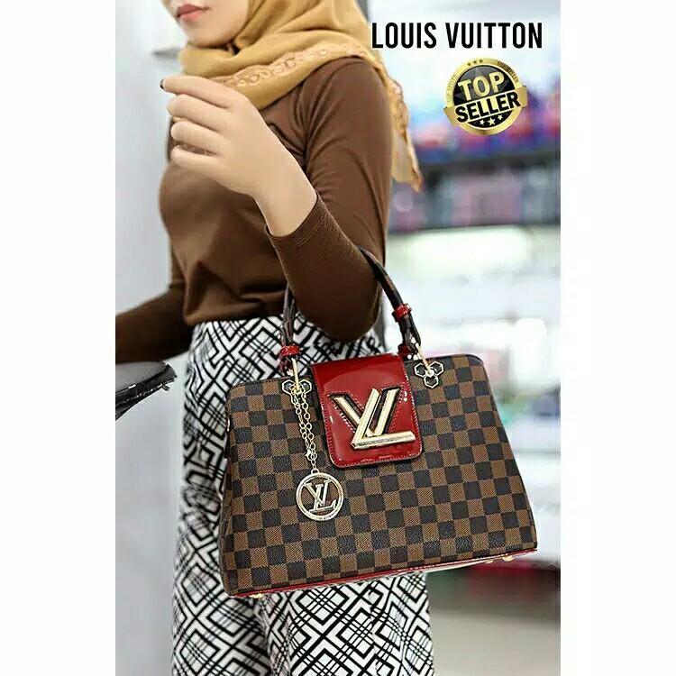 NEW LOUIS VUITTON Bag SET HandBag with strap & dompet 3 in 1