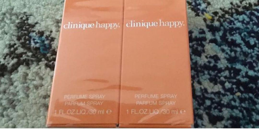 NEW-CLINIQUE HAPPY 2X30ML SEALED