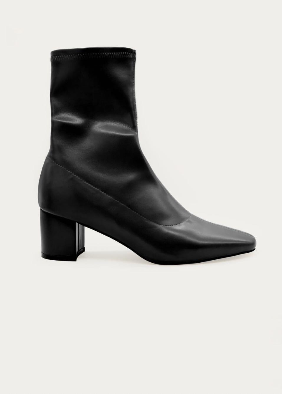 Oak and fort black leather sock boots