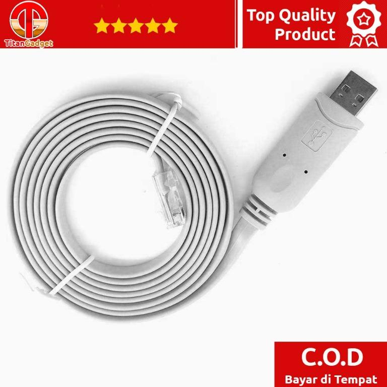 Prolific Console Cable USB RS232 to RJ45 Cisco Huawei Router PL2303RA Titangadget
