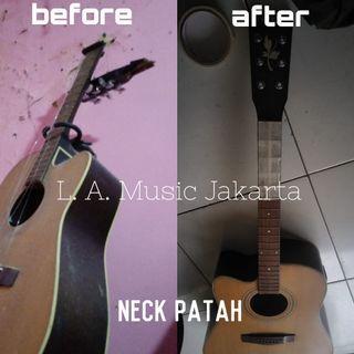 Servis Reparasi Perbaikan Gitar Akustik atau Elektrik