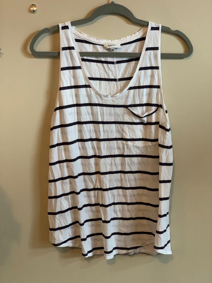 Striped Babaton Tank Size M