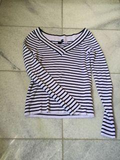 Striped stretchy top h&m