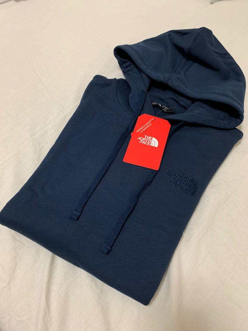 The north face 海軍藍連帽T
