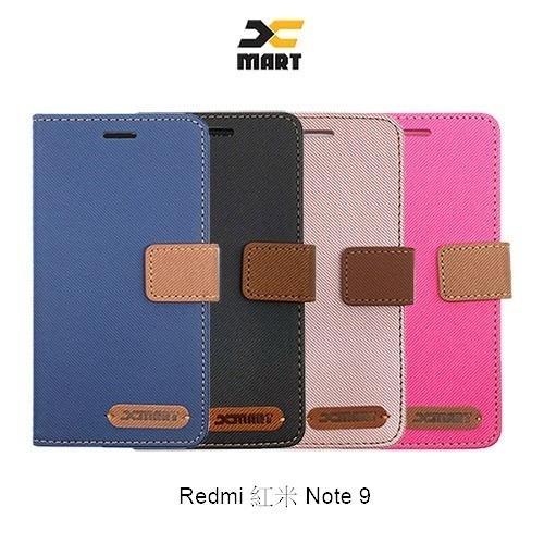 XMART Redmi 紅米 Note 9 斜紋休閒皮套