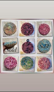 100% cotton Handmade loom knit Scrubby