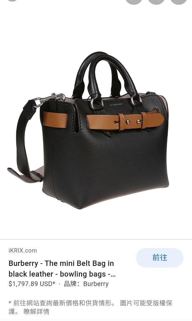 2018年Burberry  belt bag正品 官網定價79000,8.5成新有使用痕跡購買憑證保卡紙袋盒子均在