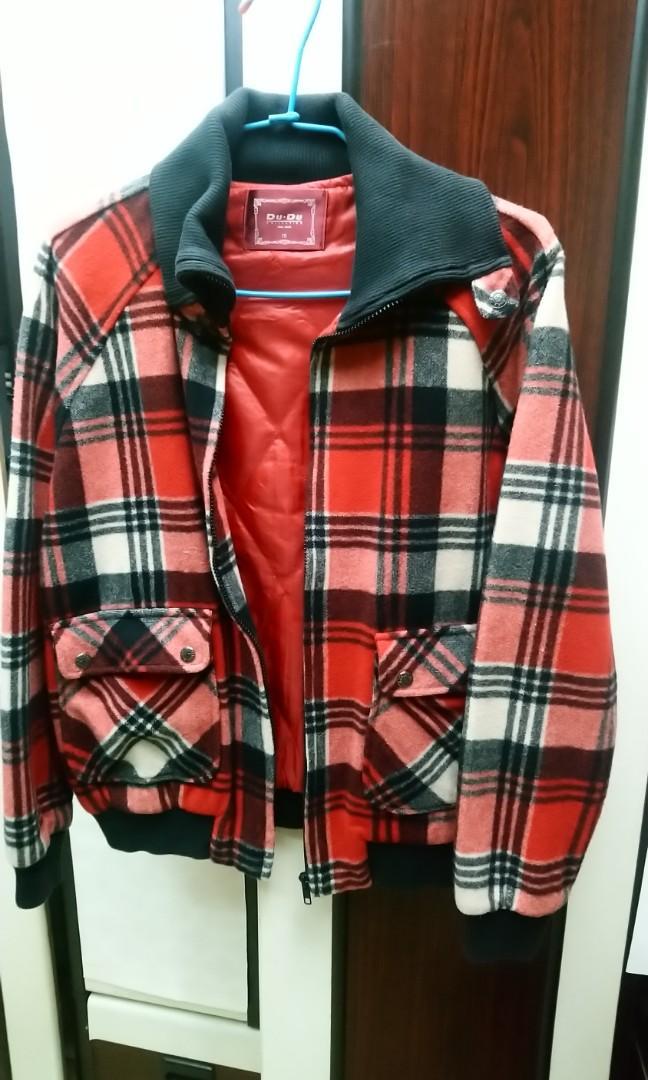 專櫃毛料格子冬季外套