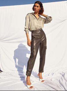 ARITZIA WILFRED LEATHER CARGO PANT