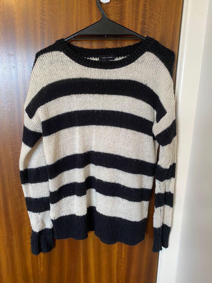 Black & white jumper
