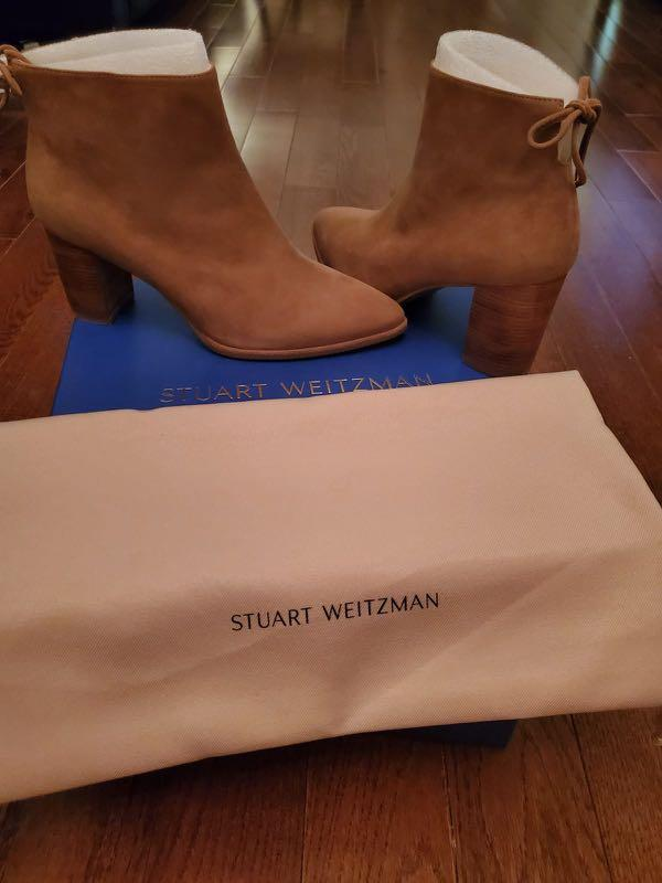 BNIB Stuart Weitzman Brown Suede Booties