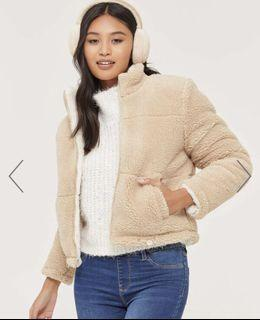 BNWT Kendall and Kylie reversible Sherpa jacket