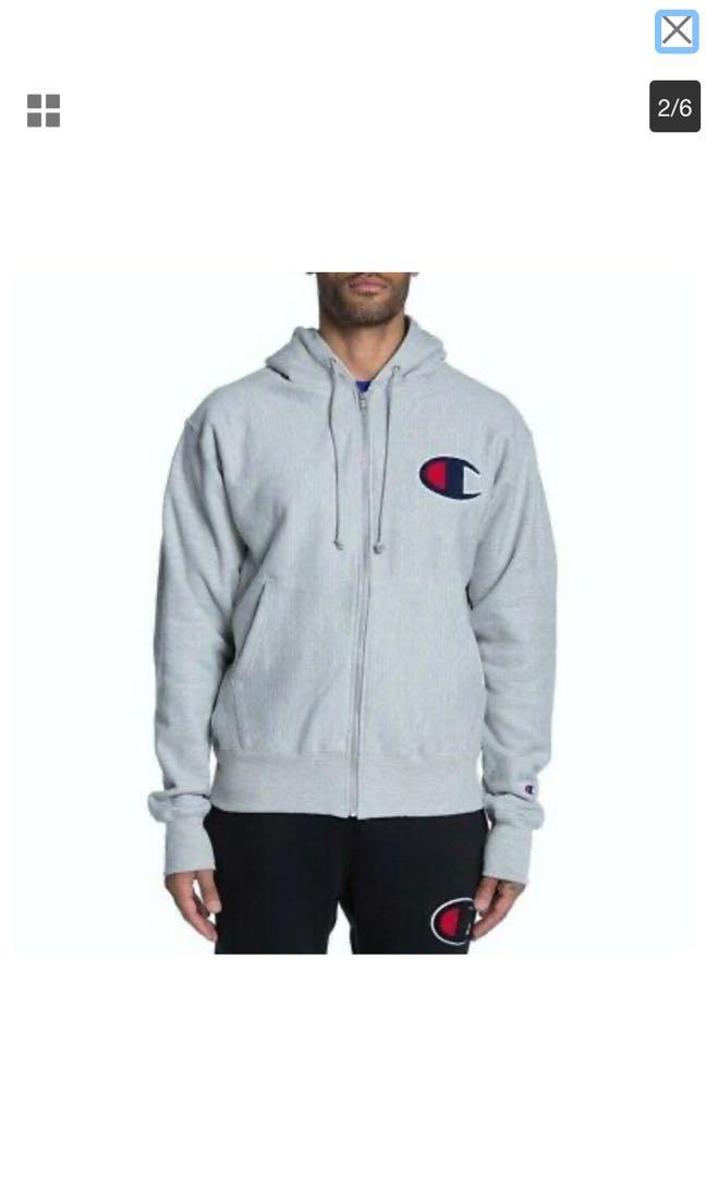 Champion zip up hoodie size small