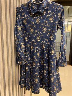 Cherrykoko 藍色碎花小洋裝