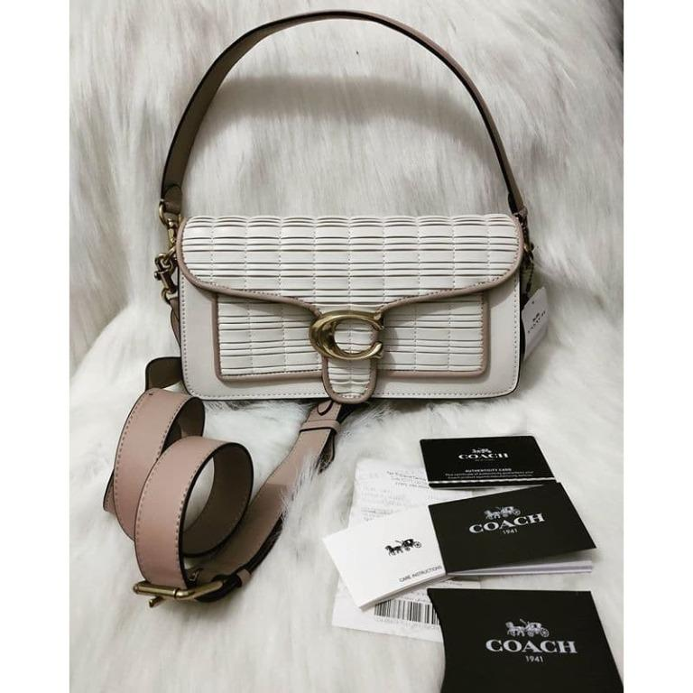 Coach Tabby Shoulder Bag 26 With Pleating Chalk
