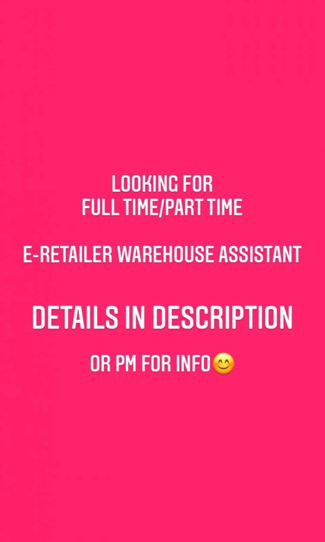 E-Retailer Warehouse Assistant