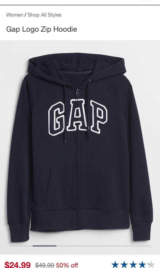 Gap zip up sweater size large