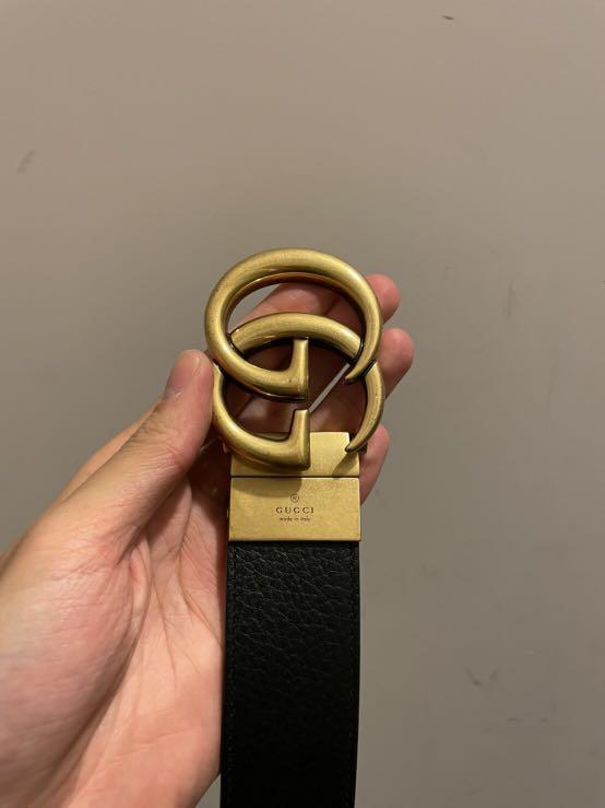 Gucci雙面皮帶 3.5款 95長